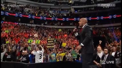 Стинг се завърна!брок Леснър разрушава!wwe Raw 19.01.2015