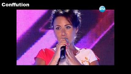 The X Factor Bulgaria ! (2013) Виктория - Обещай ми любов / Страхотно изпълнение ..