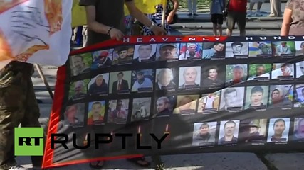 Ukraine: Hundreds rally against the demilitarisation of Shirokino