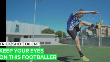 Trick Shot Talent: Javi's freestyle with a football is mesmerizing