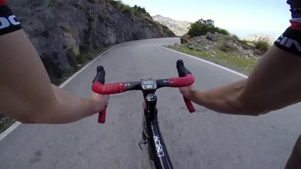 Bicycle Full Descent of Sa Calobra - Gopro 1080p Hd - majorca mallorca spain downhill spuskane bike
