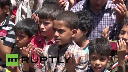 Yemen: Sanaa's children protest Saudi-led campaign outside UN building