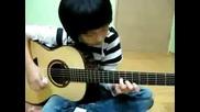 Момченце свири супер яко на китара Рirates of the caribbean