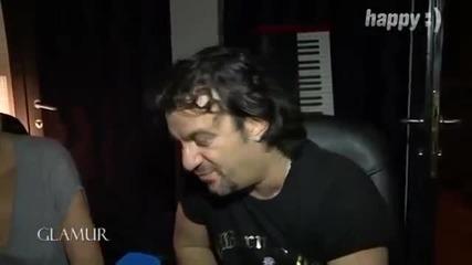 Aca Lukas i Ceca - Reportaza sa snimanja nove pesme Ne zanosim se ja - Glamur - (TV Happy 2014)