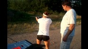Girl shoots 12ga Shotgun for the First Time