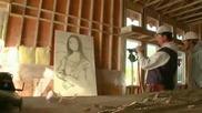 Това го могат само 5% от хората - Мъж рисува Мона Лиза с кабърчета