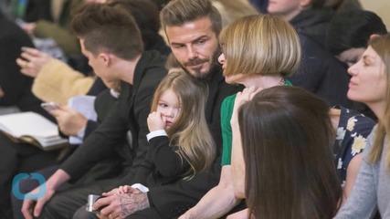 David Beckham's Daughter Harper Gets Her Kicks on the Soccer Field