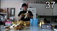 Да Изядеш 50 Банана ! - The 50 Banana Challenge - Matt Stonie