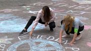 Germany: Kothen residents colour in city to defy racism