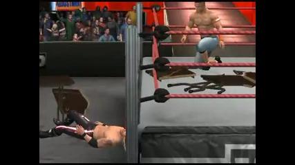 Smackdown vs Raw 2011 - John Cena made Fu Through two Tables
