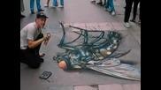 Невероятни 3D Улични Рисунки