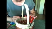 Basket Weaving Video #18b - How to Finish Lashing a Basket Rim