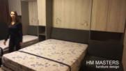 Мебелна композиция с две Падащи легло и диван от hm-masters.com