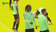 Ronaldo Leads Portugal Training Ahead of Euro Quarter Final Match Against Poland