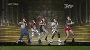 [hd] [11.09.09] f(x) - Intro & La cha Ta @ Music Bank