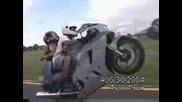 Луд Моторист Си Изгубва Приятелката
