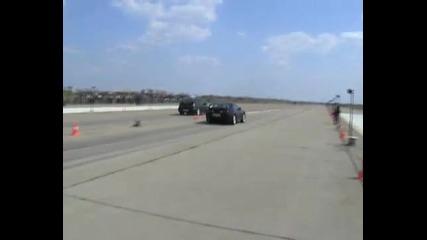 Toyota Supra Vs. Subaru Impreza Drag Race [1.4 Mile]