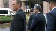 Belgium: Poroshenko meets Tusk and Juncker in Brussels