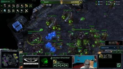 Starcraft 2: Giantt[z] vs Btmn[p] - Eps квалификация #08