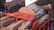 Светкавично!как да си нацепим сами дърва по руски метод