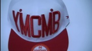 Ymcmb шапка (snapback) White and Red