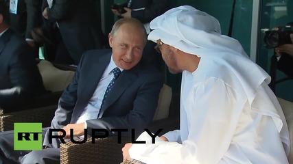 Russia: Abu-Dhabi crown prince meets Putin at MAKS-2015