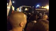 Протест 23.07.2013 полицаи пребиха протестиращите/част1