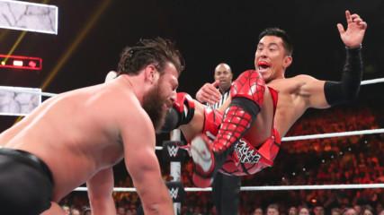 Drew Gulak suplexes Akira Tozawa onto Tony Nese's spine: WWE Stomping Grounds 2019 Kickoff
