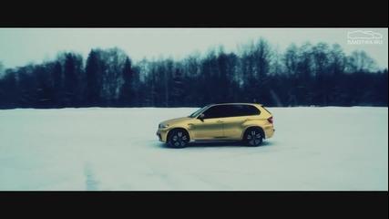 Звяр! B M W X5 на сняг