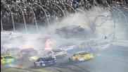 Crash at NASCAR Race at Daytona Injures Fans