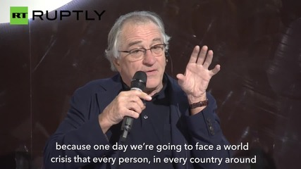 Robert De Niro Calls for an End to US-Russia Bullsh*t