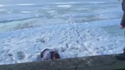 Girl backflip fail