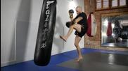 Муай тай / кикбокс подготовка- комбинация от удари за напреднали, тренировка 1