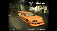 Fast And Furious cars in Nfs Most Wanted