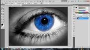 Смяна на цвета на око с фотошоп (урок за начинаещи)