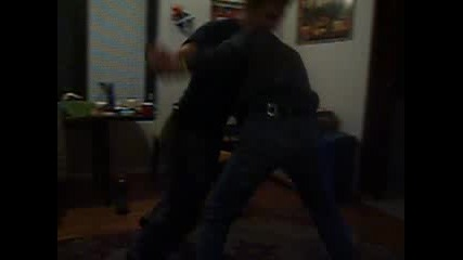 Two Young Drunksters Fighting
