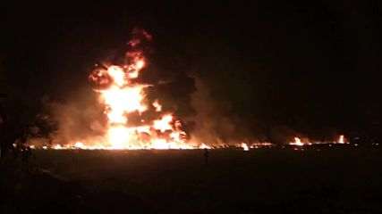 Mexico: Chilling moment of fatal pipeline explosion *WARNING: GRAPHIC CONTENT*