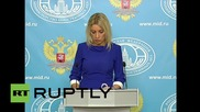 Russia: Creating dialogue between Damascus and opposition is 'main aim' in Syria - Zakharova