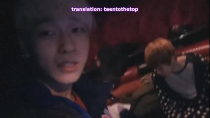 (eng sub) Teen Top On Air - Exploring the Tour Bus