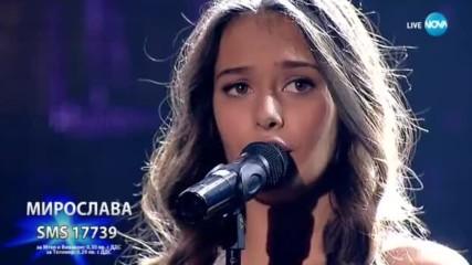 Изпълнението на Мирослава на Cant Take My Eyes Off You беше невероятно! X Factor Live (22.10.2017)