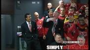 28.02.10 Във Съблекалнята на Манчестър Юнайтед след спечелването на Карлинг Къп!