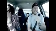 drifting with a beautiful girl/яка мацка on board drift car
