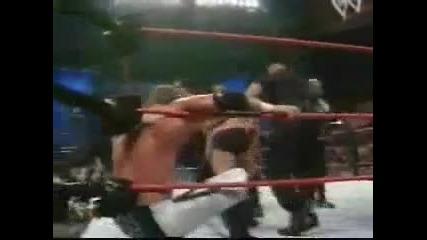 The Rock & Stone Cold vs. Undertaker & Hhh