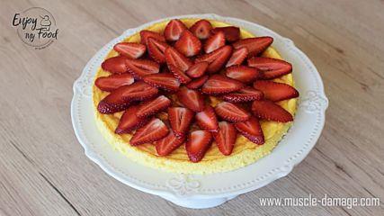 Enjoy my food by Diliana Kostova-Чийз кейк с бял шоколад