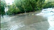 След проливния дъжд в гр.пловдив на бул.свобода.