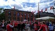 Denmark: Danish fans warm up in Copenhagen ahead of Euro 2020 clash with Finland