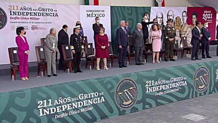 Mexico: Cuban president attends Independence Day military parade in Mexico City
