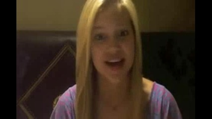 Olivia Holt facebook video july 2011