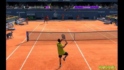 Virtua Tennis ( N. Djokovic vs G. Monfils ) - My Gameplay !!!