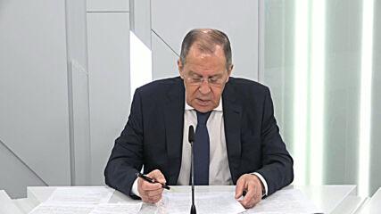 Russia: Lavrov warns of growing nuclear war threat as US seeks 'global domination'